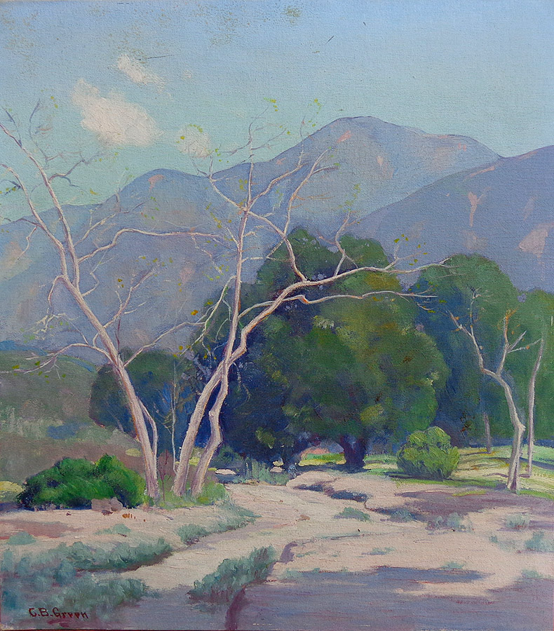 Charles B. Green Eaton Canyon Altadena 16x18 oil on board