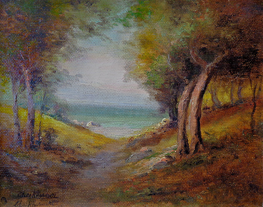 Charles Henry Harmon View to the Sea 8x10 oil on canvas copy