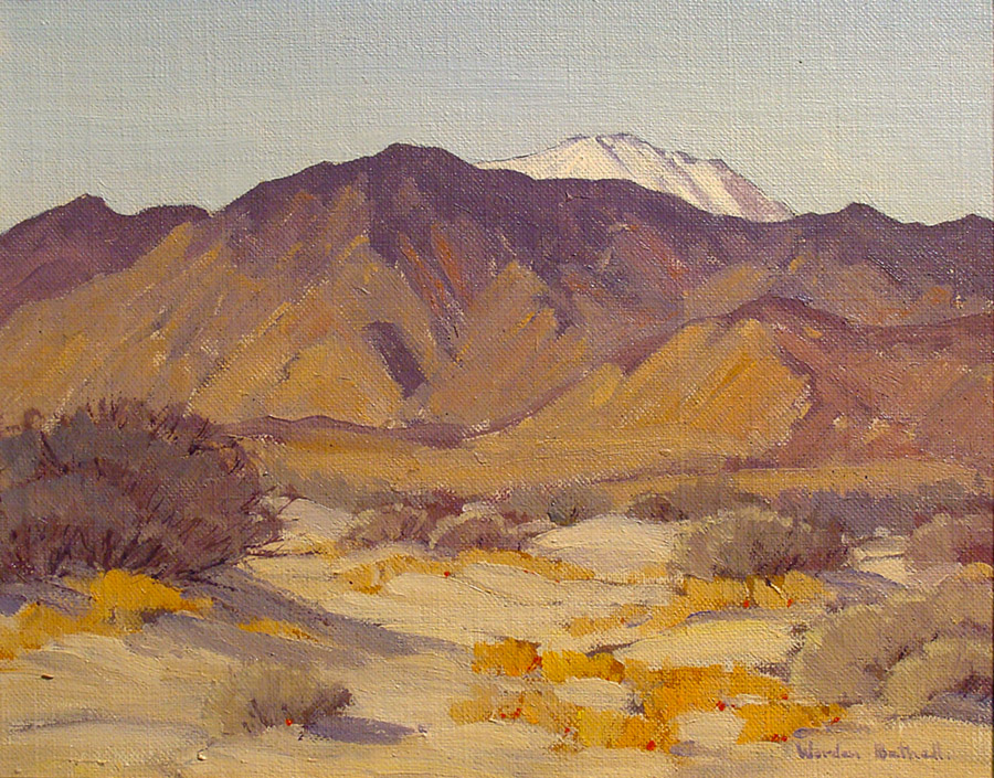 Charles Worden Bethell San Jacinto Snow 8x10 Oil on Canvas Board
