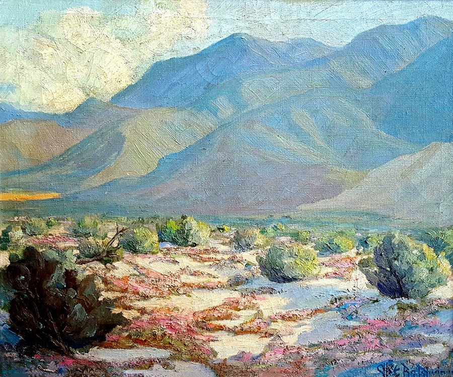 Cliff Baldwin Spring Desert Verbena 20x24 Oil on Canvas