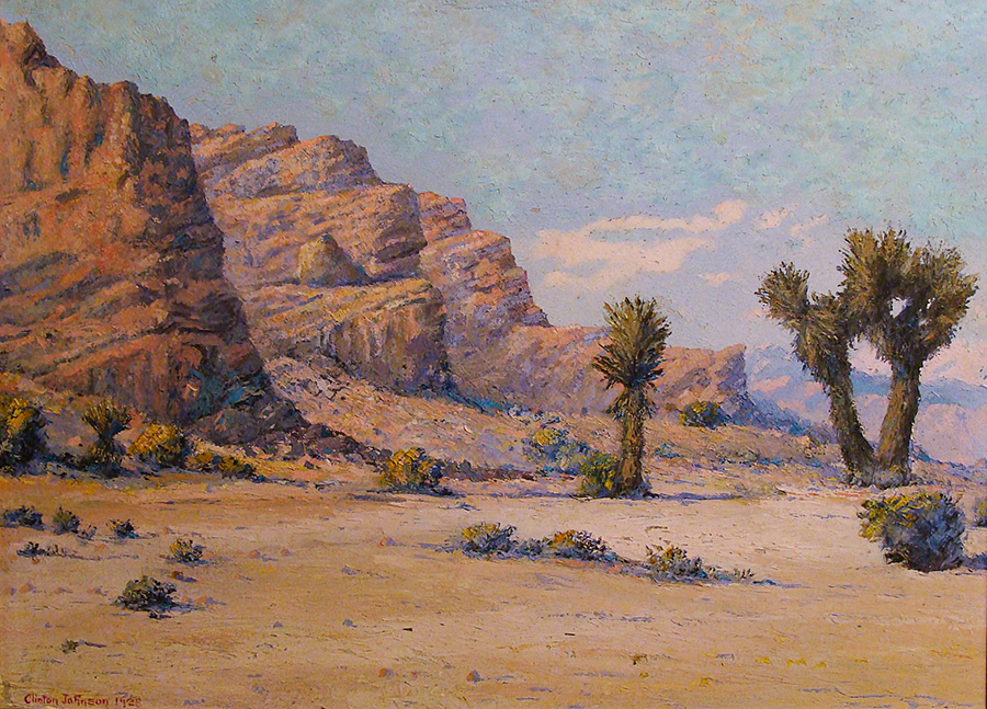 Clinton Johnson Desert Bluffs 14x19 Oil on Board