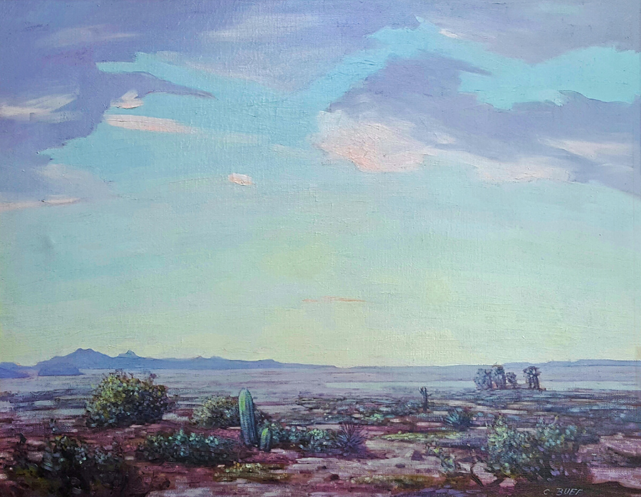 Conrad Buff Desert Sky 24x30 oil on canvas
