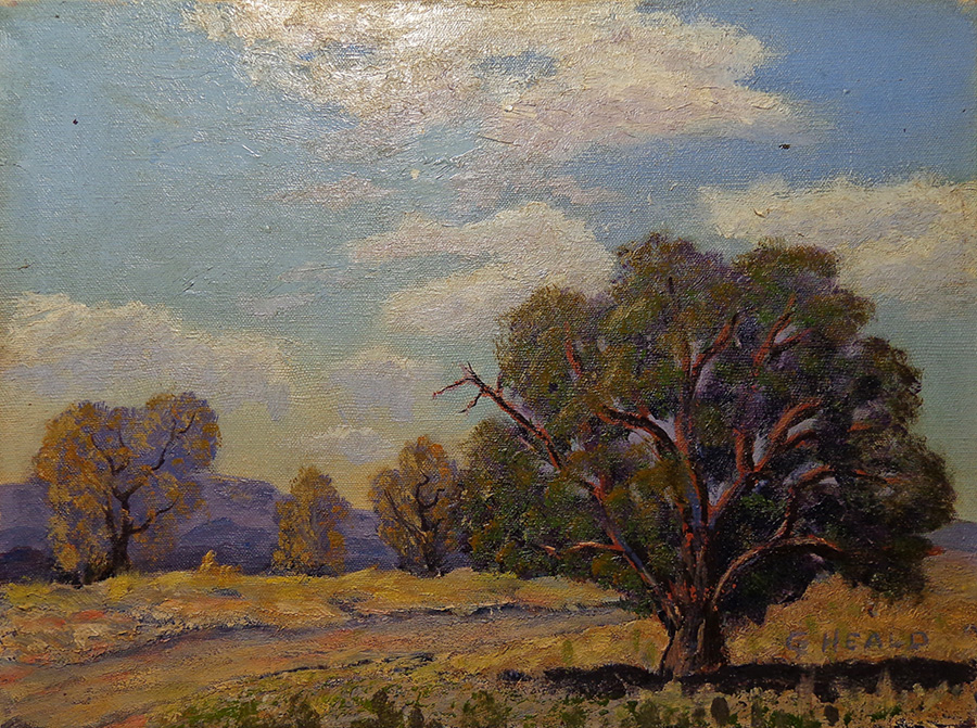 Cress Heald The Oak Tree 12x16 Oil on Canvas