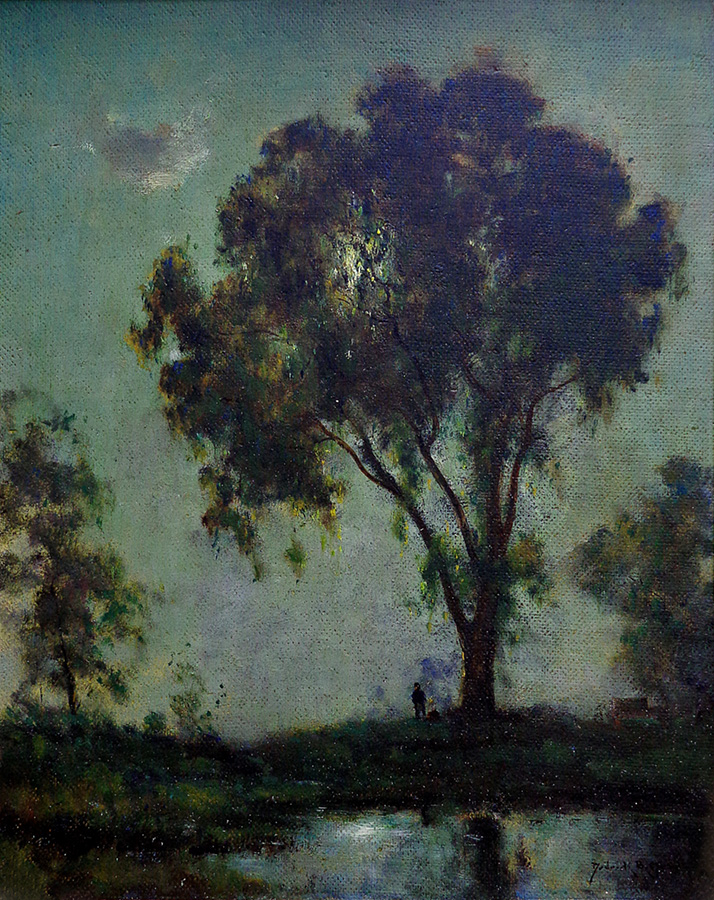 Dedrick Stuber Moonlight Enchantment 20x16 Oil on Board