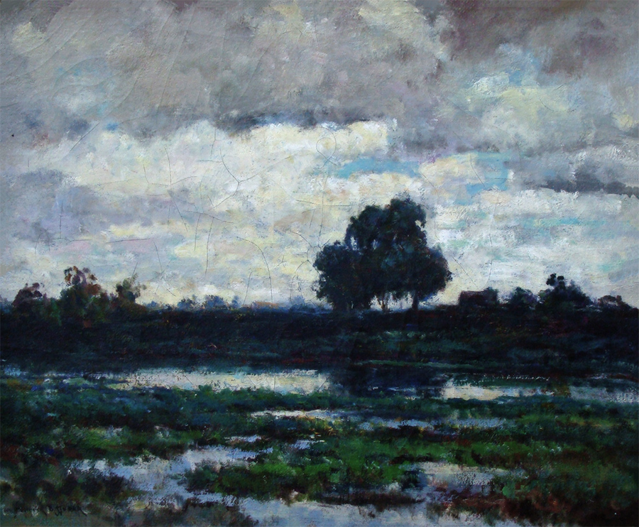Dedrick Stuber Storm Clouds 20x24 Oil on Canvas
