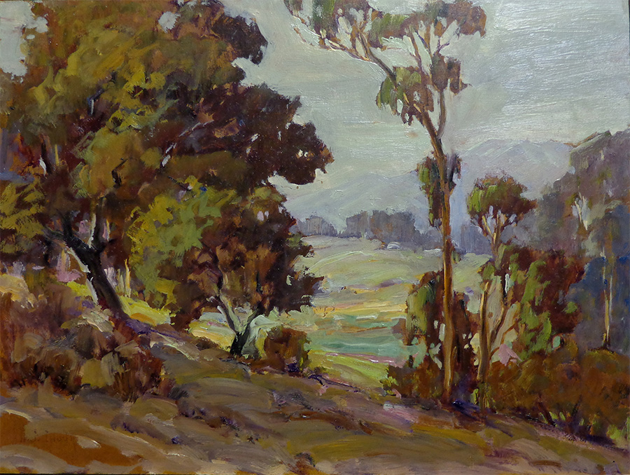 Dorothy G. Baugh Near Pasadena 12x16 oil on board