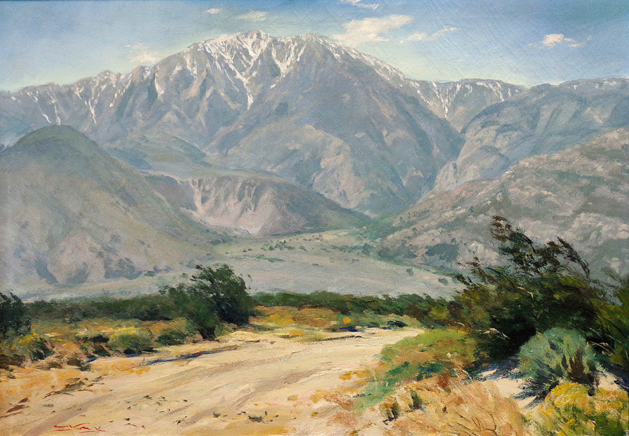 Emil Kosa Portrait of Mount San Jacinto 28x40 Oil on Canvas