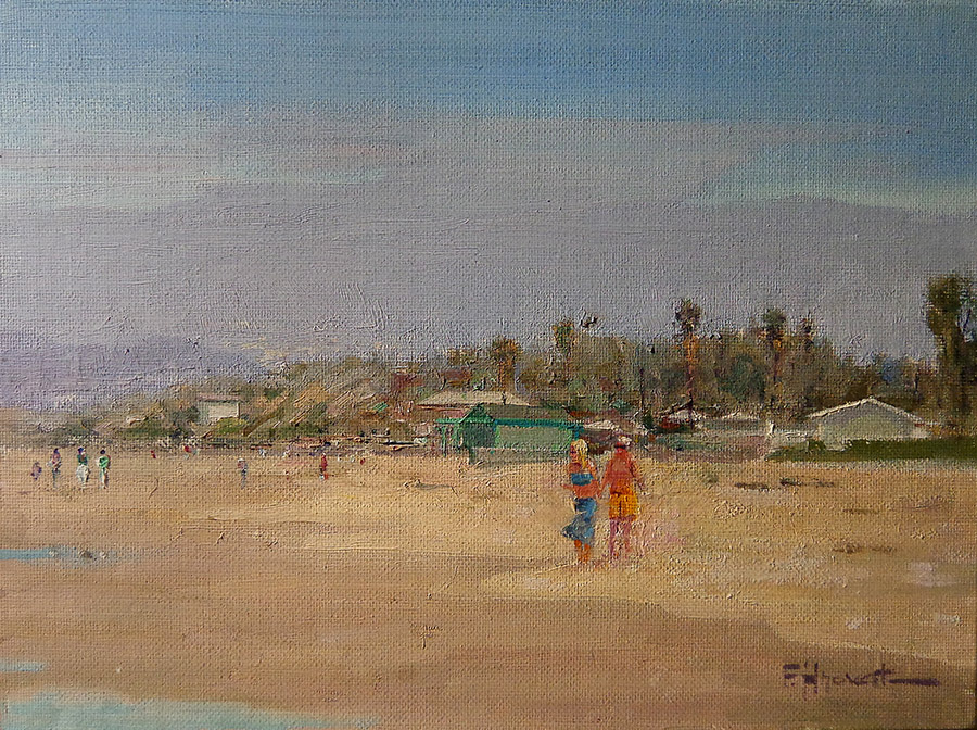 Felice Hrovat Crystal Cove Stroll 9x12 oil on board
