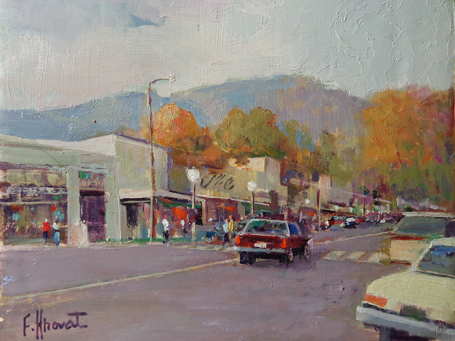 Felice Hrovat Downtown Montrose 8x10 oil on board