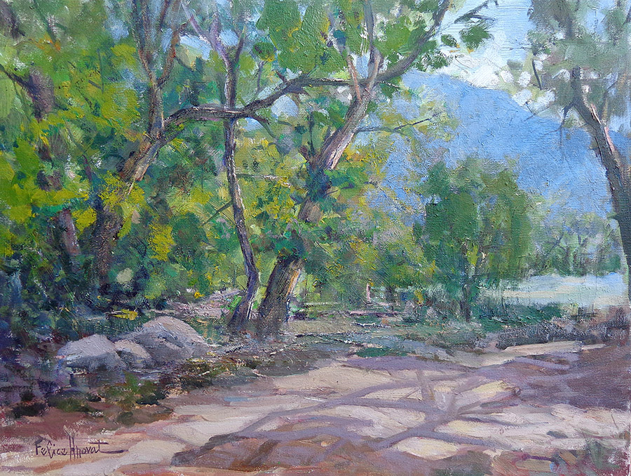 Felice Hrovat Santa Anita Canyon Path 18x24 oil on canvas