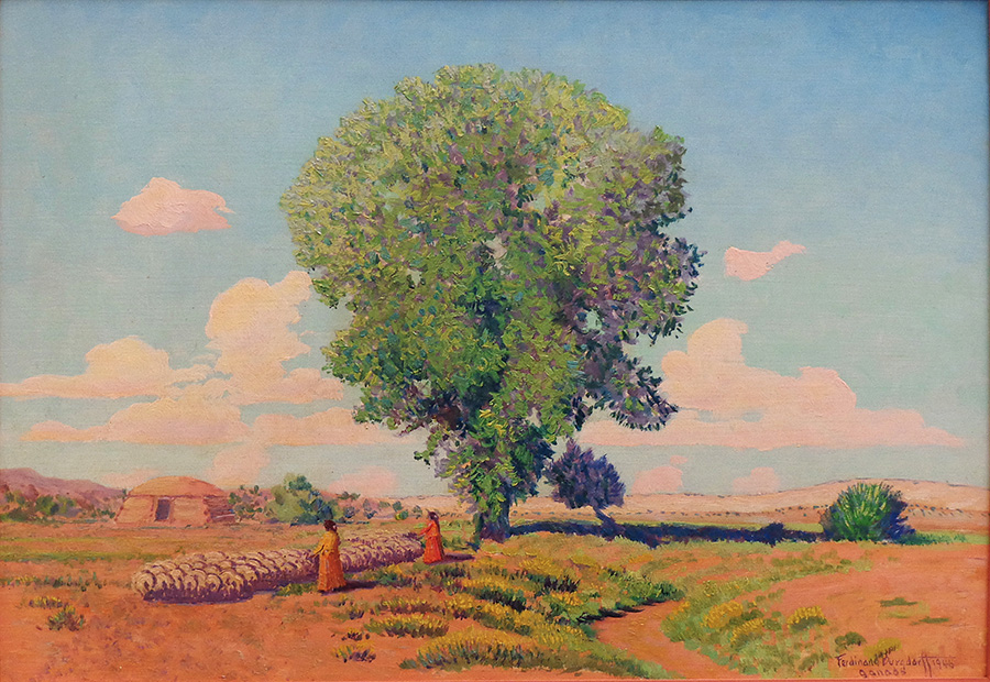 Ferdinand Burghdorff New Mexico Reservation 14x20 oil on board