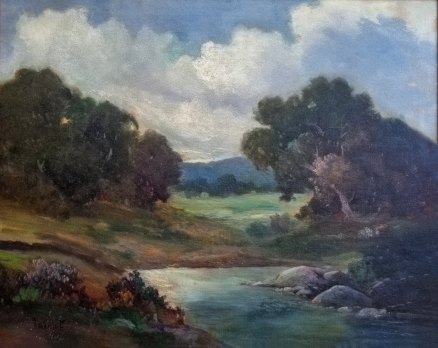 George S. Bickerstaff Santa Barbara Landscape 24x30 Oil on Canvas