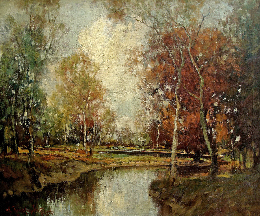 George Thompson Pritchard Autumn Gold 25x30 Oil on Canvas