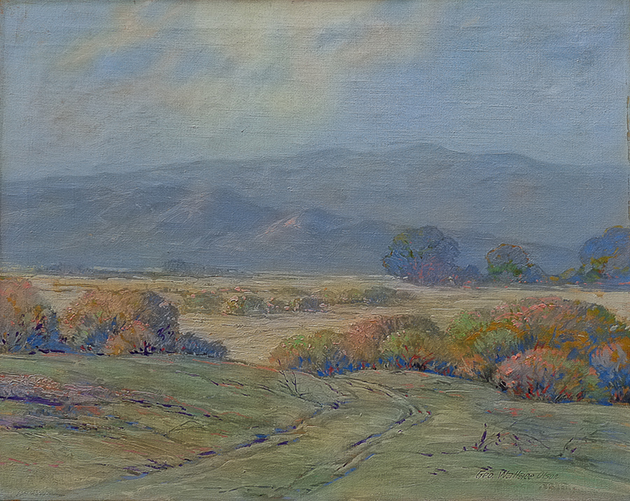 George Wallace Olson Desert Color near Palm Springs 25x30 Oil on Canvas