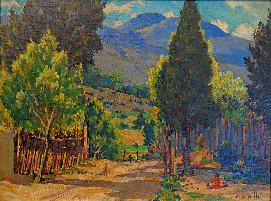 Gustave Cimiotti New Mexico Hills 12x16 oil on board