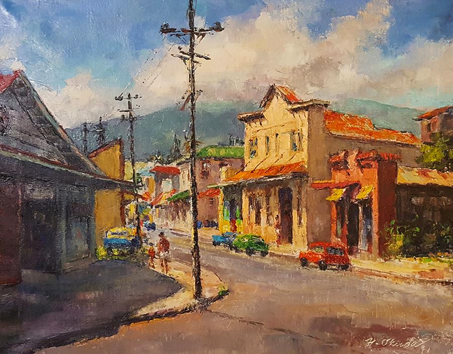 Hajime Okuda Lower Paia 24x30 Oil on Canvas