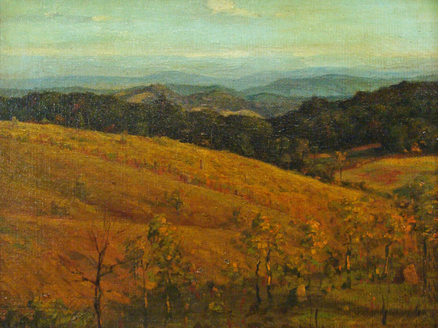 Henry L. Richter California Hills 12x16 Oil on Canvas Board