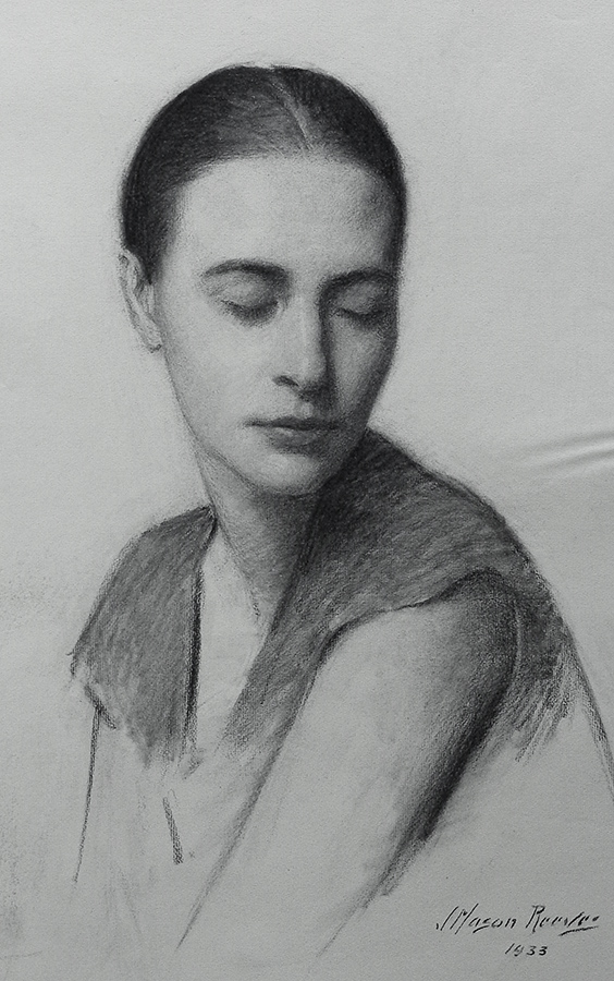 J. Mason Reeves Quiet repose 20x16 pencil drawing
