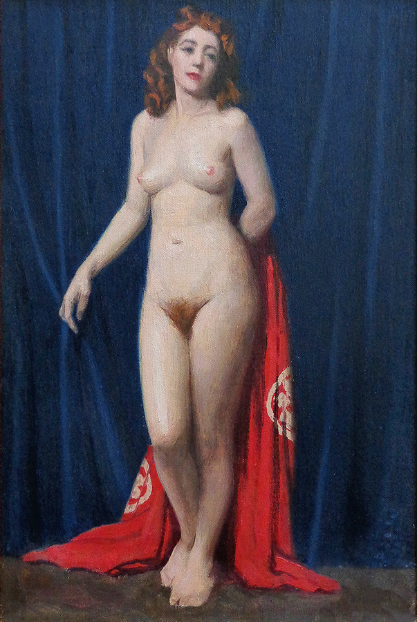 J. Mason Reeves Red on Red 18x12 oil on canvas