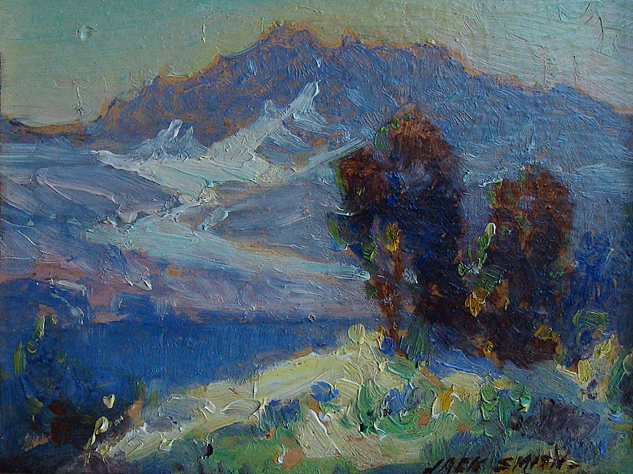 Jack Wilkinson Smith Sierra Lake 3.75x4.75 Oil on Board