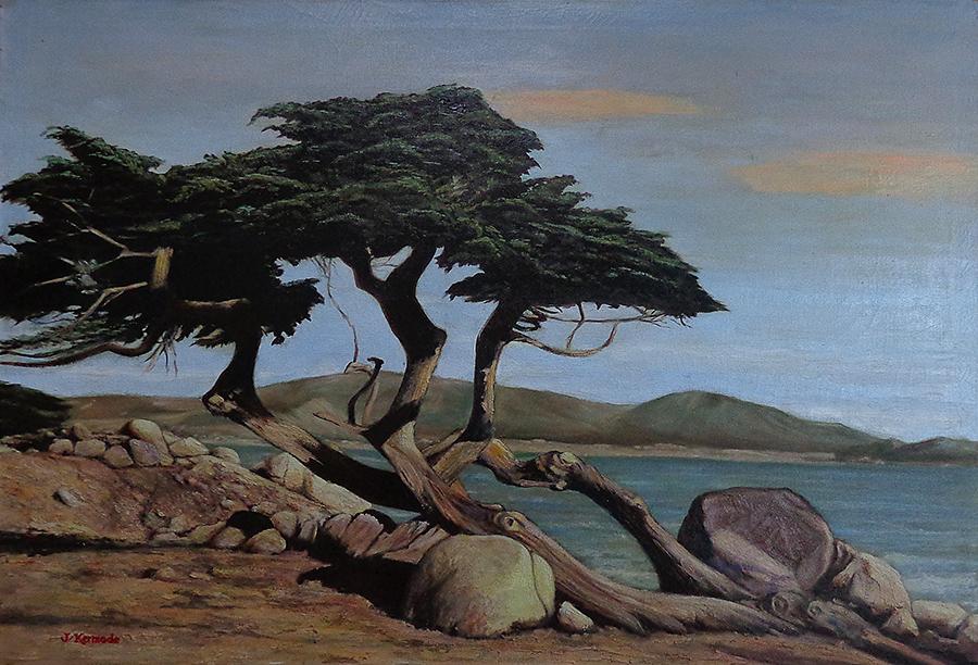 James Kermode Monterey Coastal Pine 26x38 Oil on Canvas