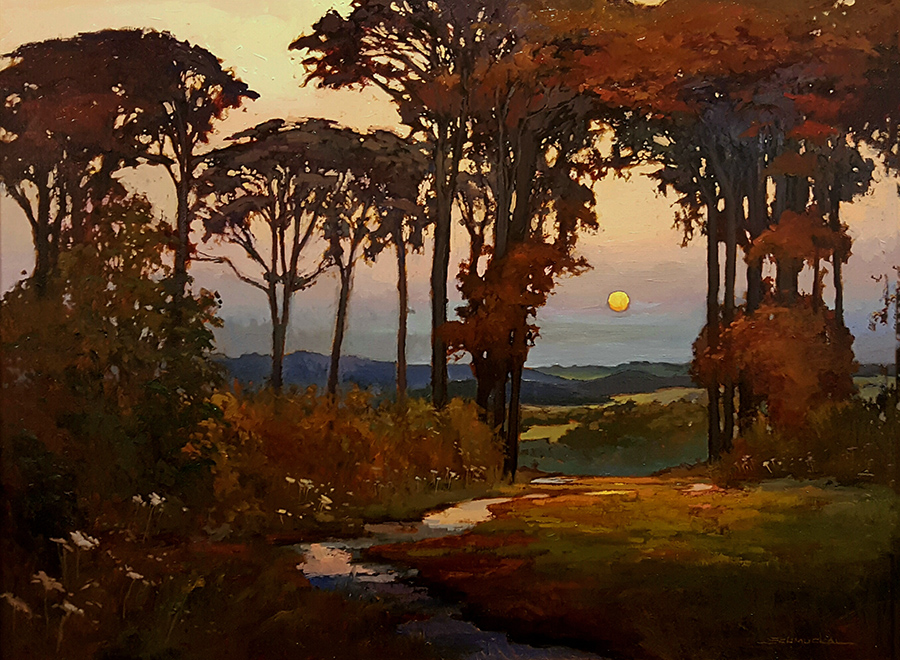 Jan Schmuckal Days End 30x40 Oil on Canvas