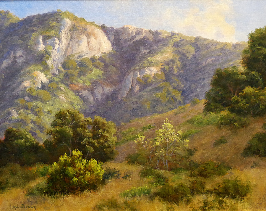 Linda Brown Eaton Canyon 16x20 oil on canvas board