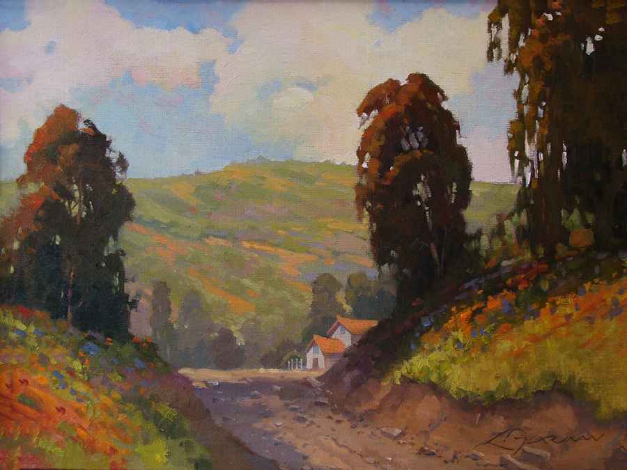 Fearman Country Road 12x16 Oil on Canvas