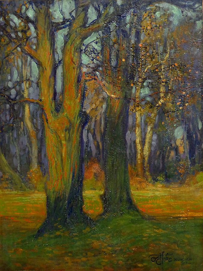 Otto Hake Forest Clearing 14x11 oil on paper on board