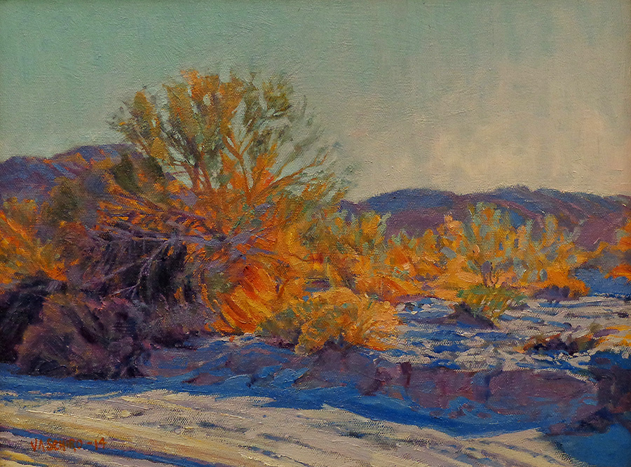Vic Shiro Colorful Desert 11x14 Oil on Canvas