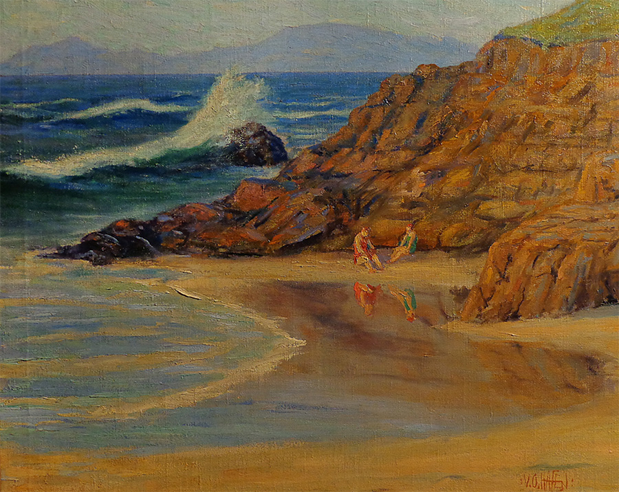 Virgil Otto Hafen Catalina Overlook 24x30 Oil on Canvas