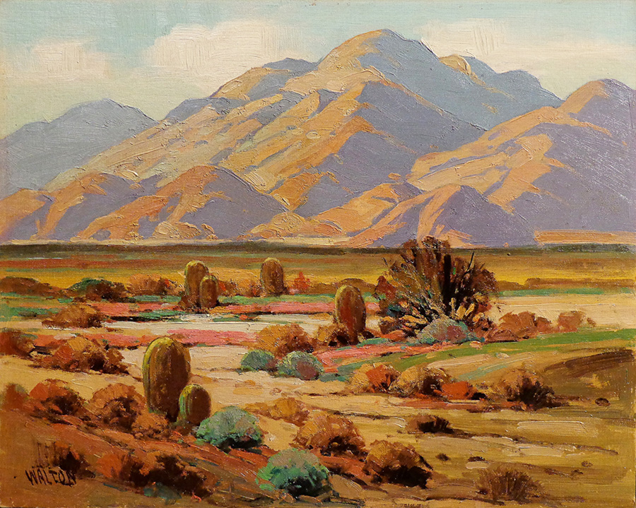 Walter Farrington Moses Desert Color 16x20 Oil on Board
