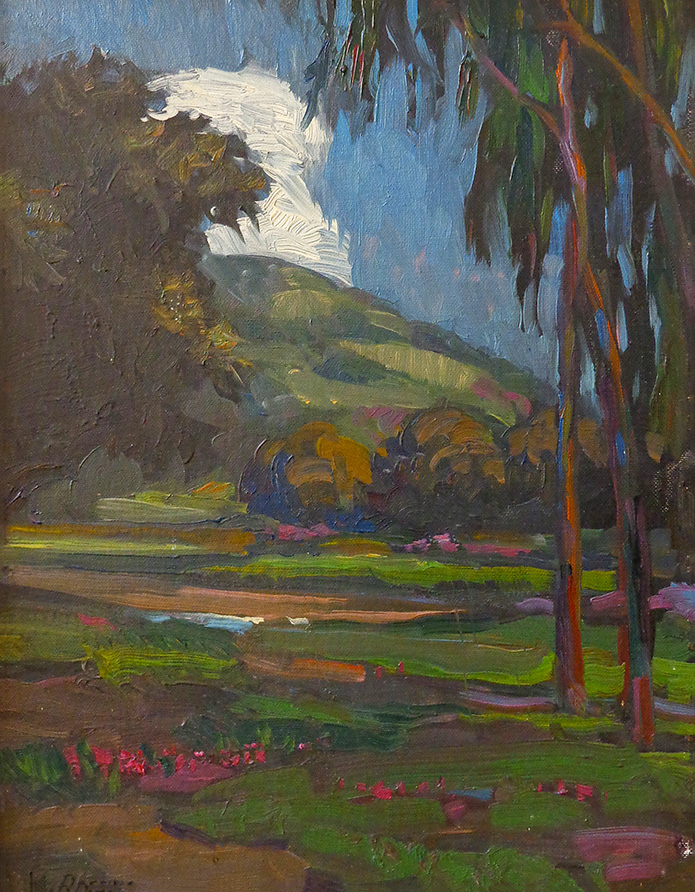 William Dorsey Eucalyptus Meadow 15x18 Oil on Board
