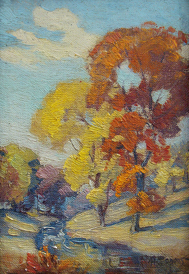 William H. Eppens Autumn Color 7x5 Oil on Board