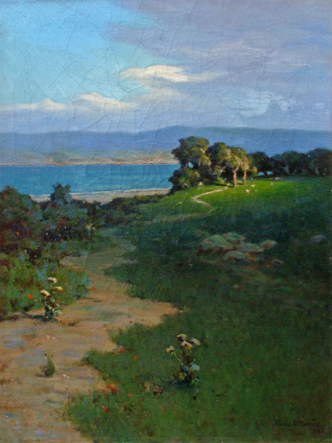 Willis Davis View to the Lake 24x18 Oil on Canvas