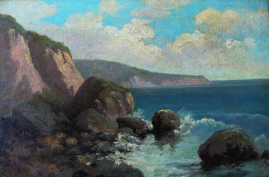 A. Clinton Conner Laguna Shoreline 10x15 Oil on Canvas