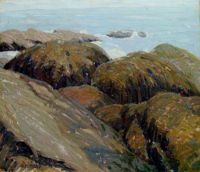 Alexis B Many Laguna Rocks 12x24 Oil