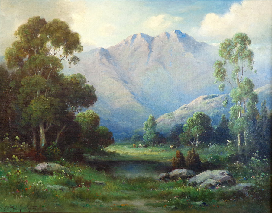 Alexis M Podchernikoff San Fermando Valley 28x36 Oil on Canvas