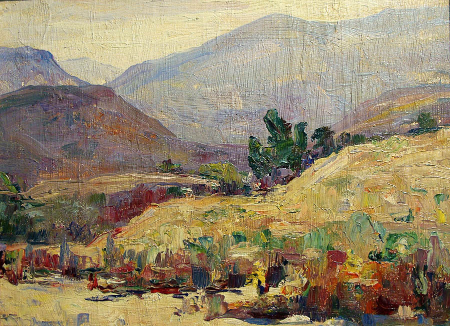 Alta West Salisbury Hillside Color 12x16 Oil on Board