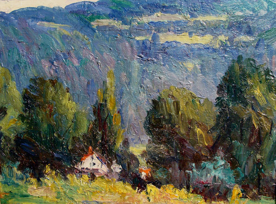 Alta West Salisbury Tucked Away 9x12 Oil on Canvas Board