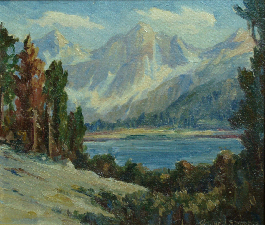 Arthur J. Stephens Sierra Lake 9x11 Oil on Board