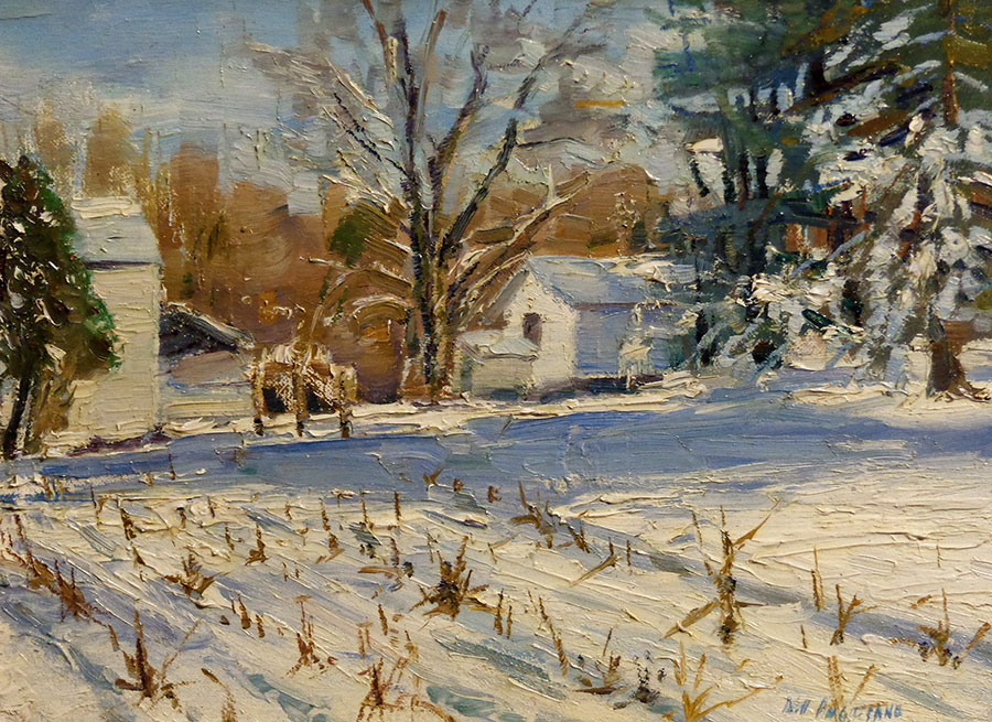 Bill Agresano Early Snow 9x12 Oil on Board