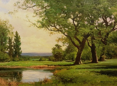 Robert Wood California Vista Oil on Canvas 18x24