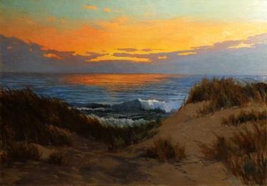 Adelaide Whiteman California Sunset 28x40 Oil on Canvas