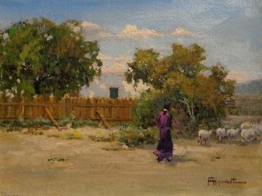 Felice Hrovat New Mexico Homstead 9x12 Oil on Canvas
