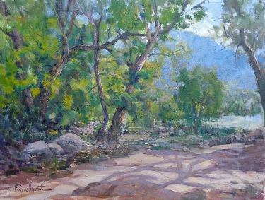 Felice Hrovat Santa Anita Canyon Path 18x24 oil on canvas