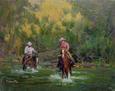 Felice Hrovat Slow Crossing 12x16 Oil on Canvas