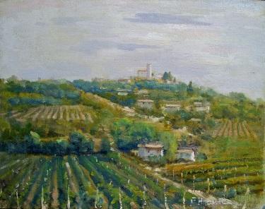 Felice Hrovat Wine Country 11x14 Oil on Canvas