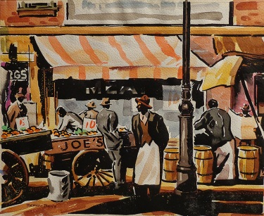 Raymon Price Joe's 12x15 Watercolor