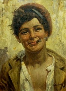 A Villone The Gypsy Boy 16x22 Oil